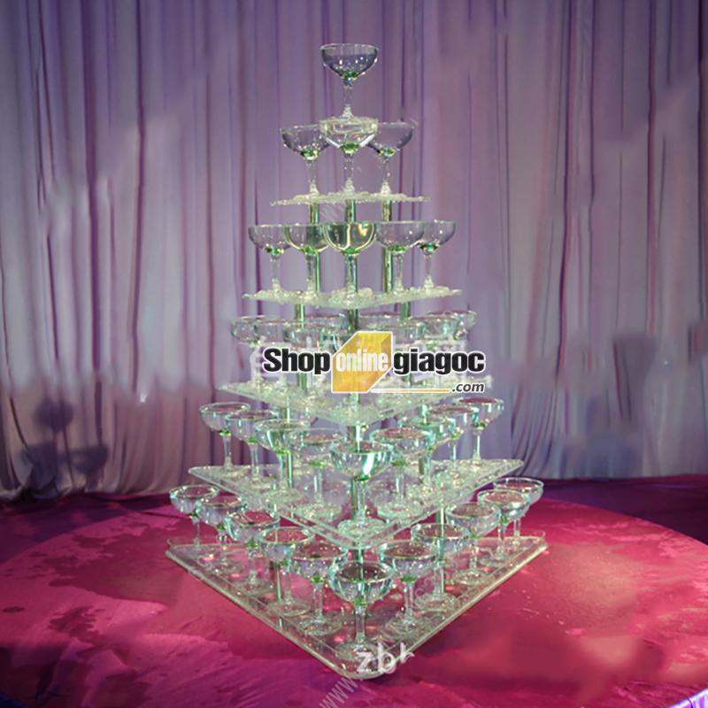 Tháp Ly Champagne VDTL10 (Mẫu A) - shoponlinegiagoc
