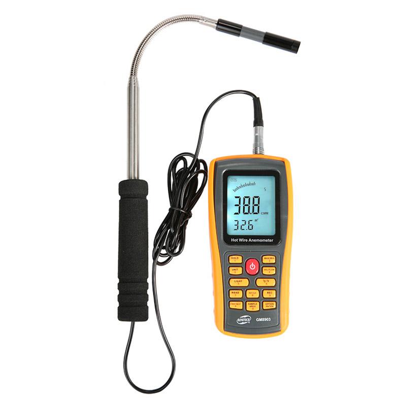 Máy đo lưu lượng, tốc độ, nhiệt độ Gió GM8903