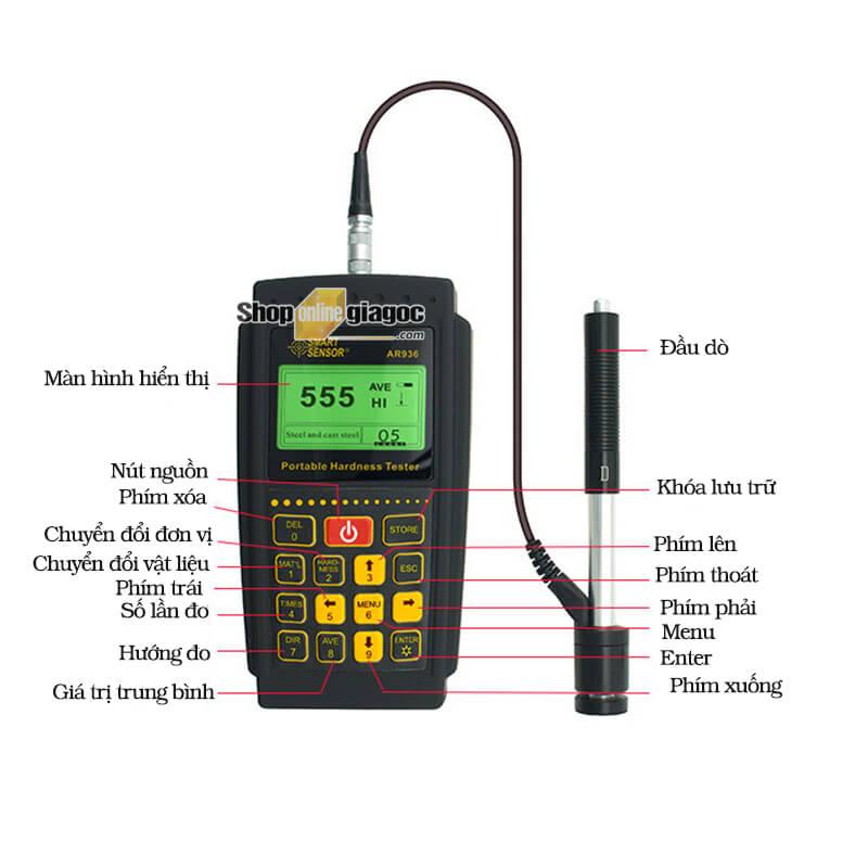 Máy đo độ cứng kim loại Smart Sensor AR936