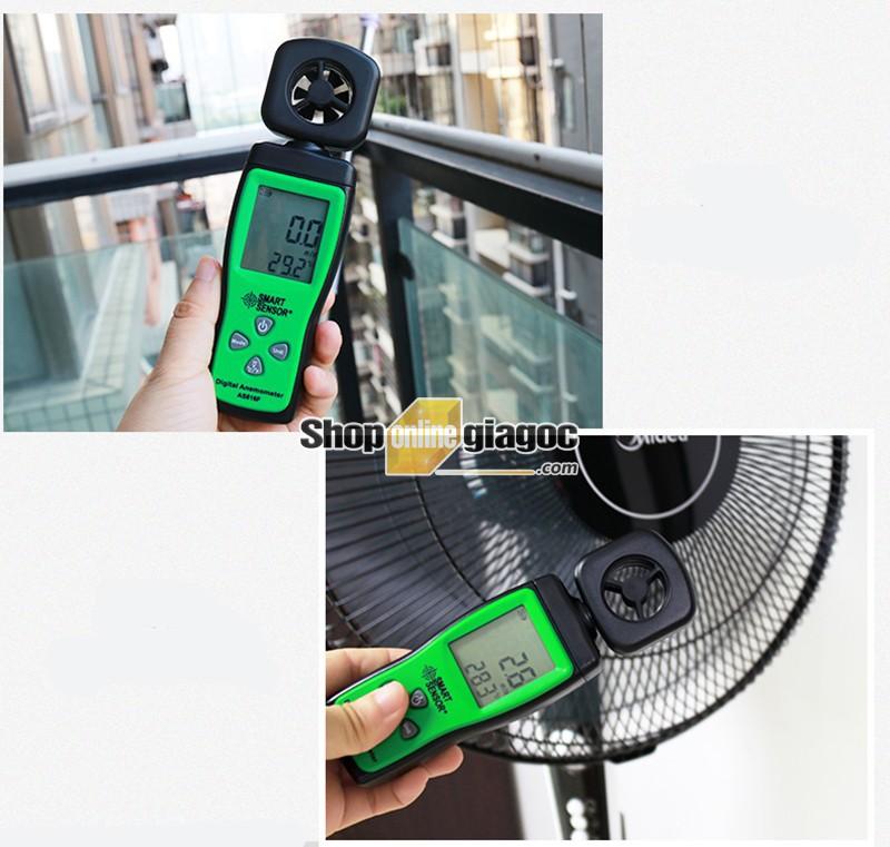 Máy Đo Tốc Độ Gió Smart Sensor AS816/AS816F