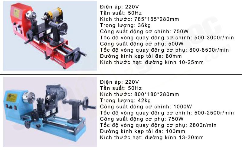Máy tiện hạt gỗ 1000W