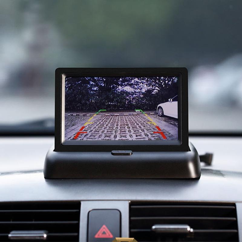 Màn Hình LCD Ô Tô 4.3 Inch HD 2 Cổng AV (Loại Gấp)