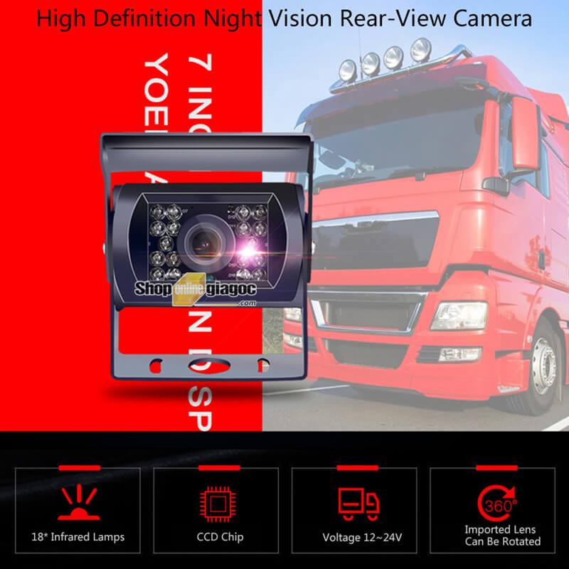 Combo Camera Chống Nước Gắn Xe Tải Màn Hình 4.3 Inch