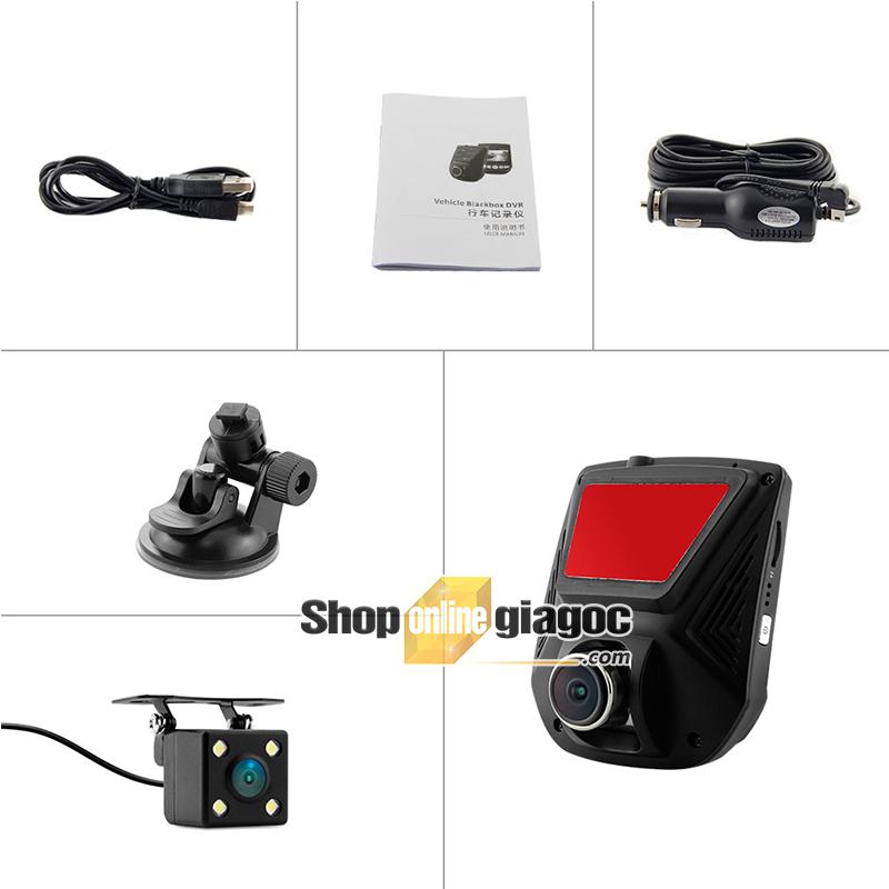 Camera hành trình tích hợp Camera lùi Q9 LCD Sony A305D