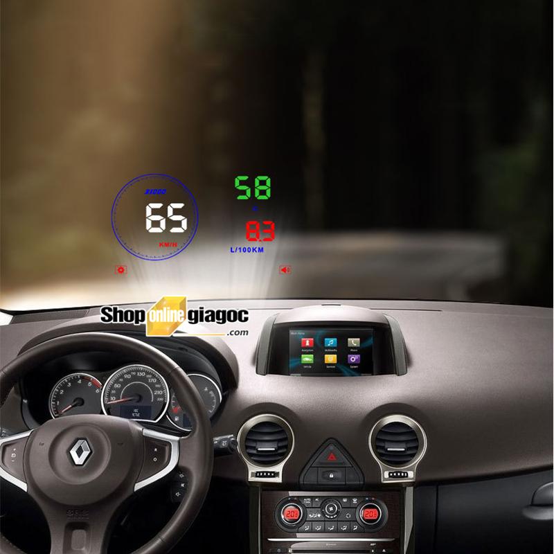 Bộ hiển thị tốc độ trên kính lái HUD M9 OBD II