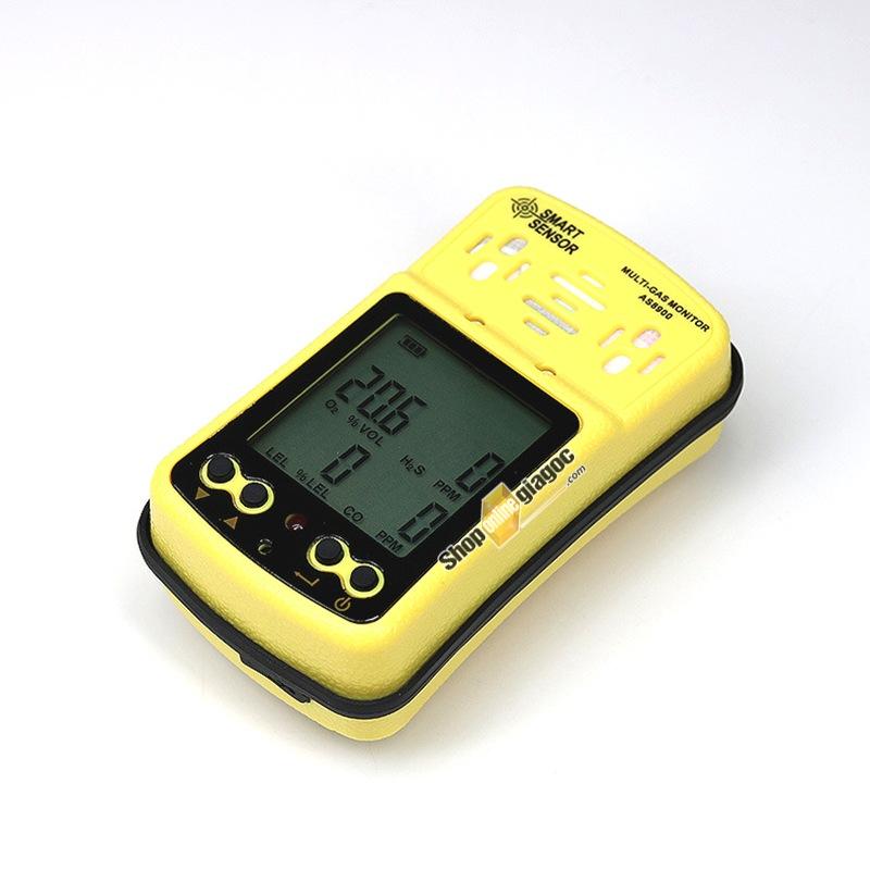 Máy Dò Khí 4 trong 1 (O2, CO, H2S, Khí Gas ) Smart Sensor AS8900