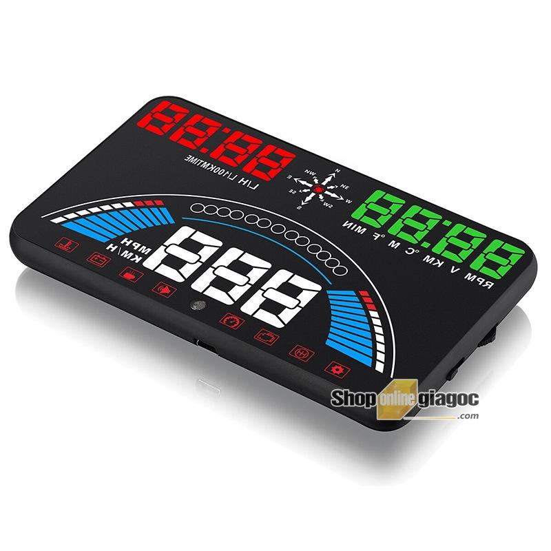 Hiển Thị Tốc Độ Trên Kính Lái HUD S7 OBD II Có GPS