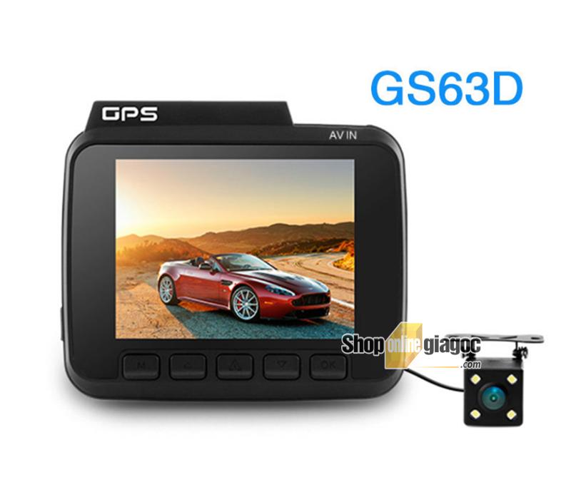 Camera Hành Trình GS63D 4k Wifi Có GPS Hiển Thị Tốc Độ, Kèm Cam Lùi