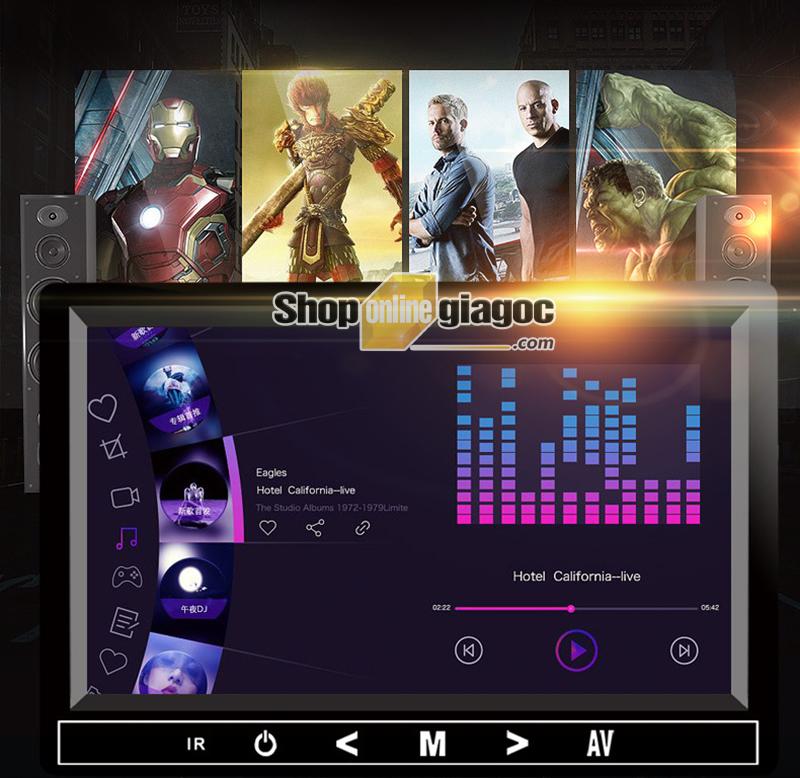Màn Hình LCD Ô Tô 7 Inch HD 1280x600P Phát Nhạc MP5 Qua Loa Xe