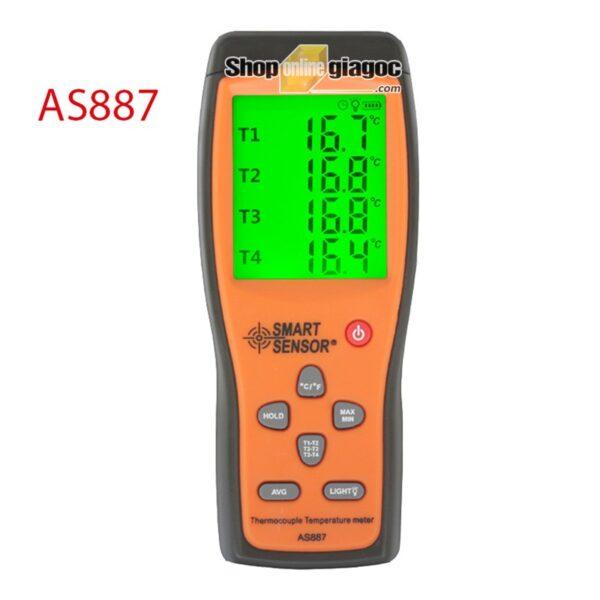 Nhiệt Kế Cầm Tay 4 Kênh Smart Sensor AS887