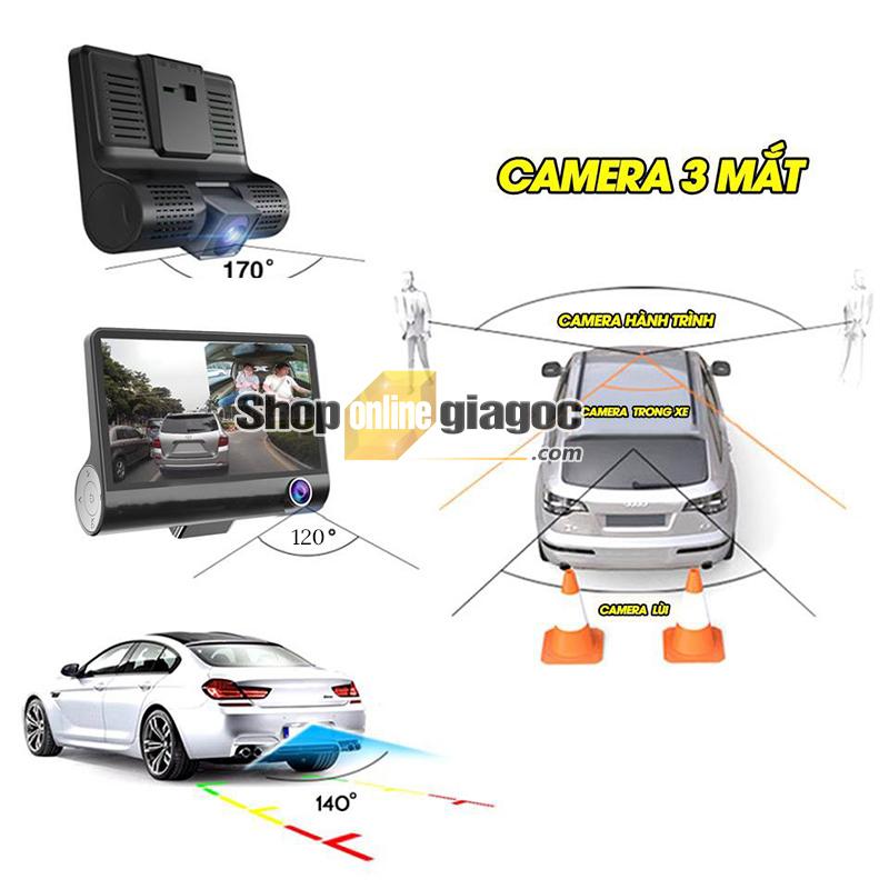 Camera hành trình 3 trong 1 quan sát tổng thể xe C2B