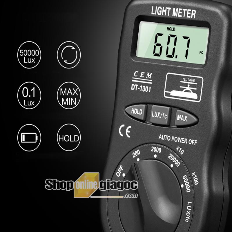 Máy đo cường độ ánh sáng CEM DT1301