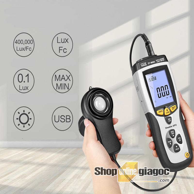 Máy đo cường độ ánh sáng DT 8809A