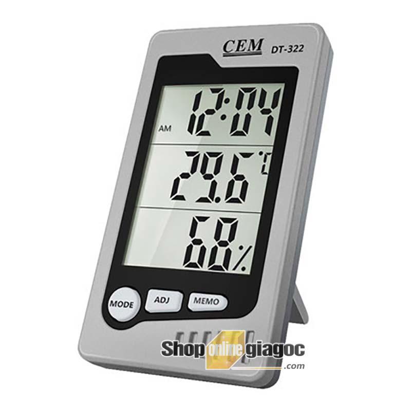 Máy đo nhiệt độ và độ ẩm CEM DT-322