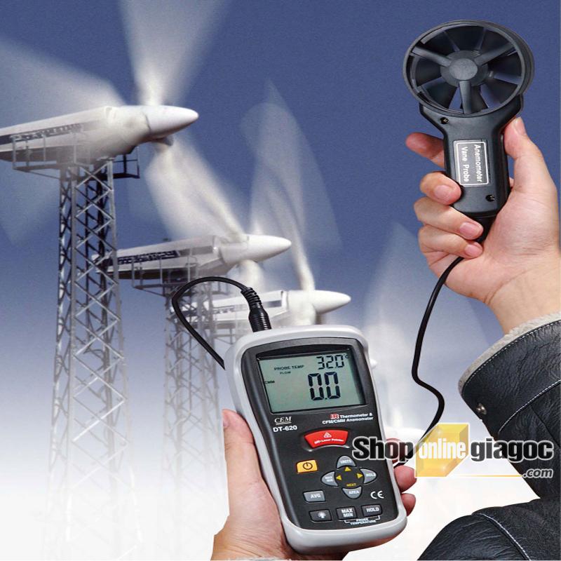 Máy đo tốc độ gió CEM DT-620