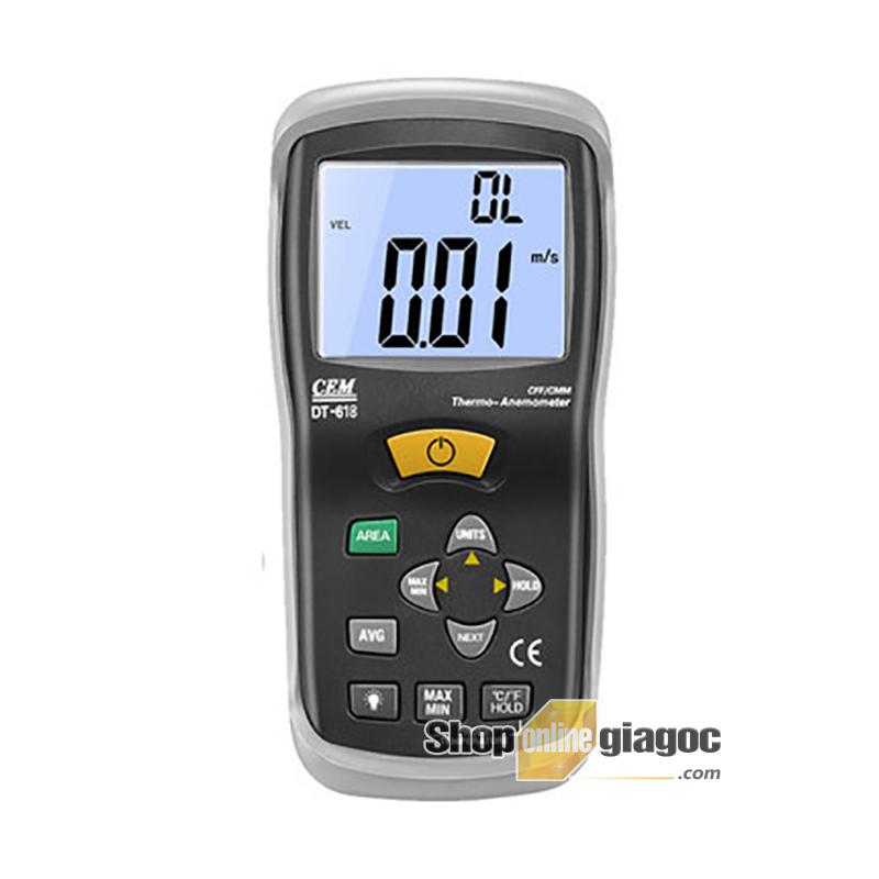 Máy đo tốc độ gió CEM DT-618