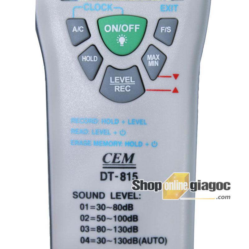 Máy đo độ ồn âm thanh CEM DT-815