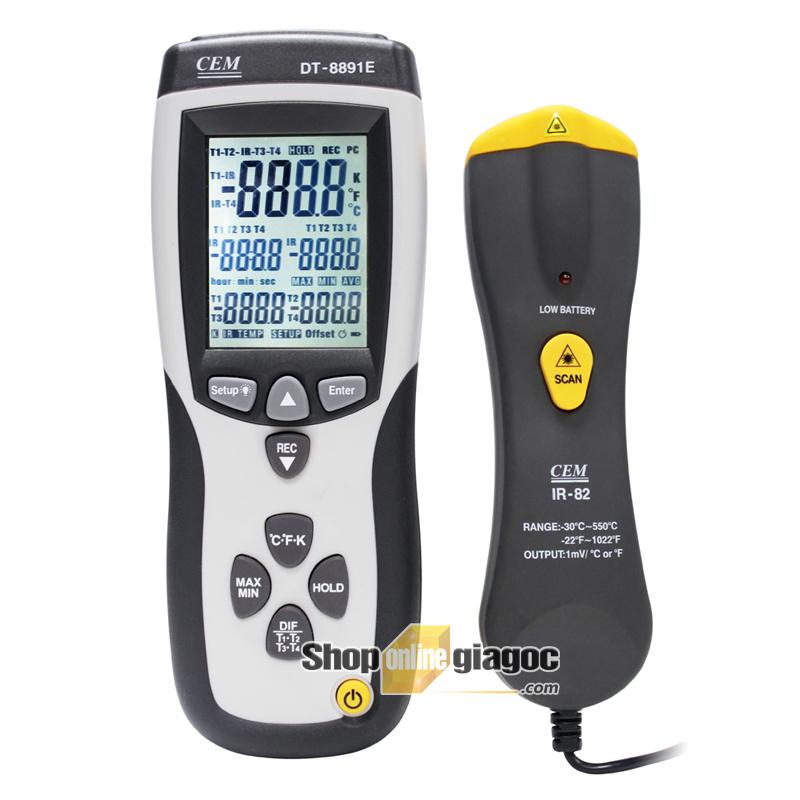 Máy đo nhiệt kế hồng ngoại 2 trong 1 DT-8891E