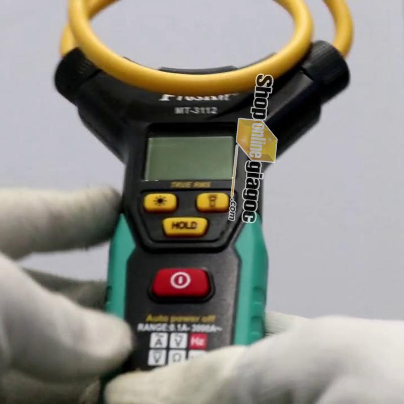 Ampe Kìm Dòng Điện Tử hỗ trợ làm việc trong khu vực thiếu ánh sáng TrueRMS Pro'skit MT-3112