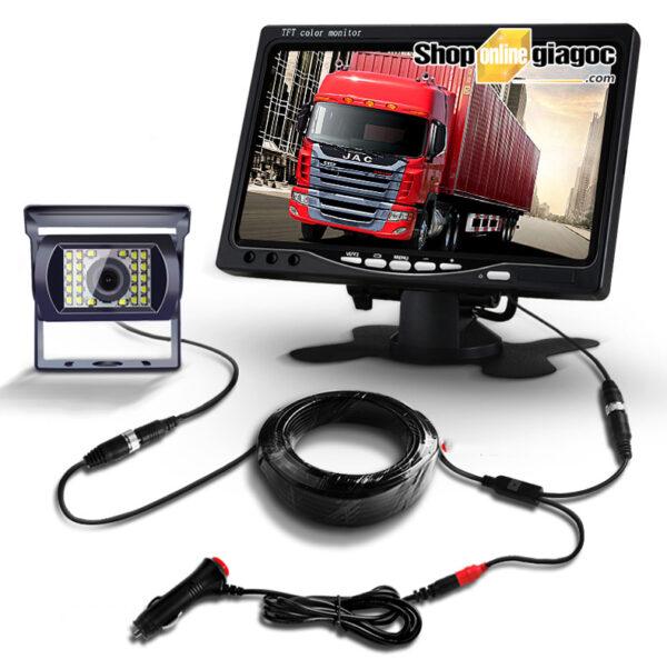 Combo 2 camera cập lề xe tải trái phải - màn hình 7 in