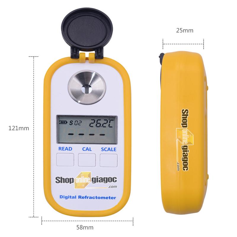 Khúc xạ kế đo độ ngọt - Kích thước