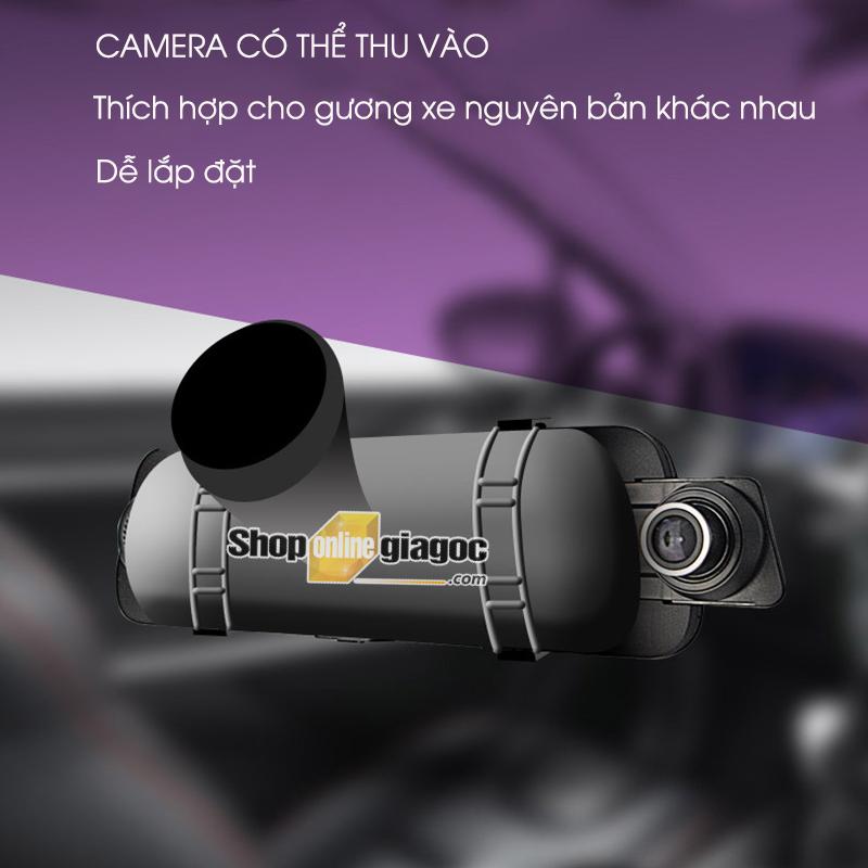 camera hành trình ốp gương 10inch