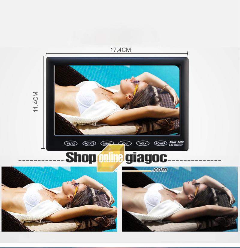 Màn Hình LCD Ô Tô 7inch HD 1024x600P 4 Cổng AV