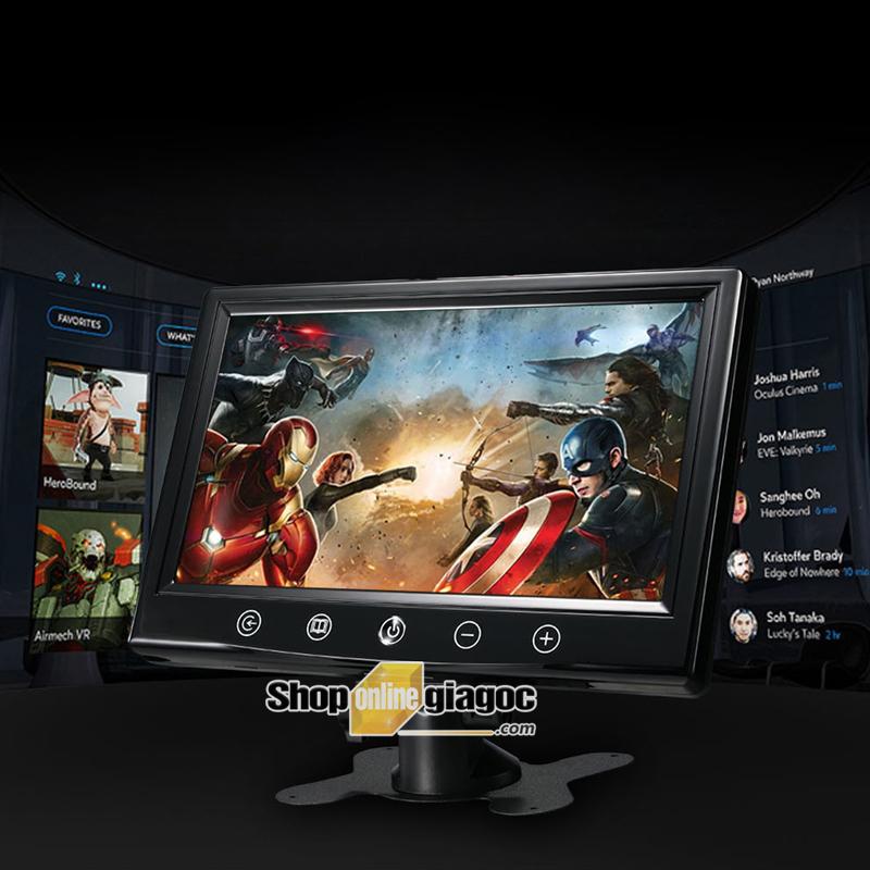 Màn Hình LCD Ô Tô 9inch HD 1024x600P Cổng VGA, 2 Cổng AV