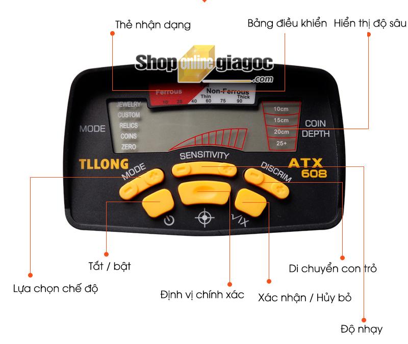 Máy Dò Kim Loại Tianlilong ATX608