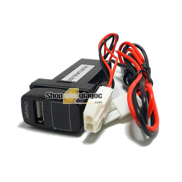 Cổng Sạc USB + Vôn Kế Điện Cho Xe Mitsubishi 12 V 2.1A
