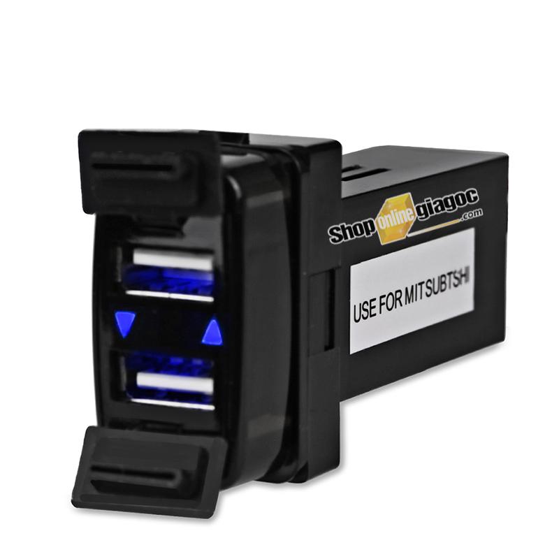 Cổng Sạc 2 USB Gắn Trong Cho Xe Mitsubishi 12 V 4.2A