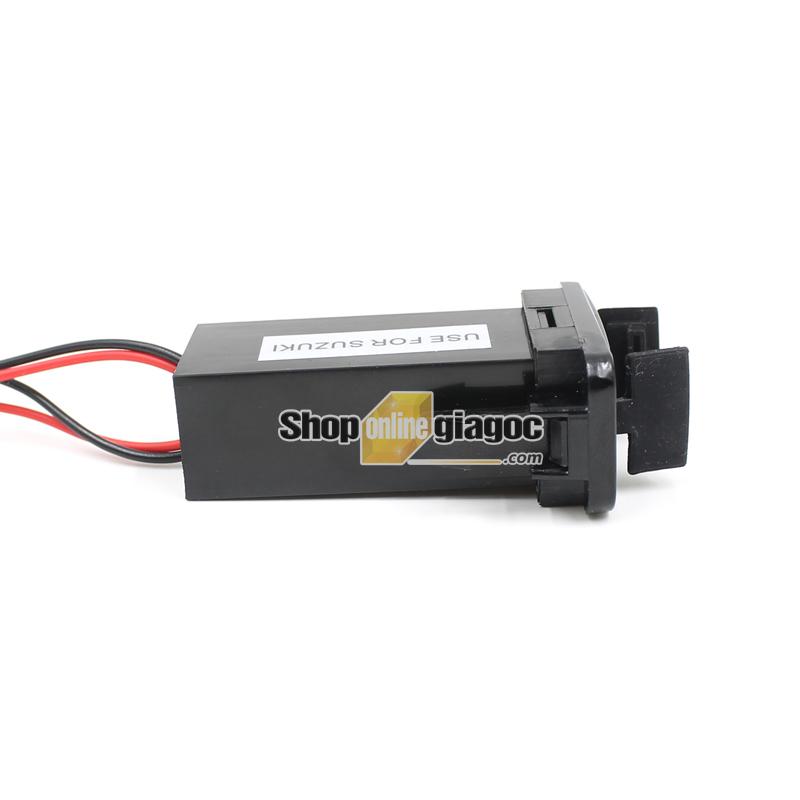Cổng Sạc 2 USB Gắn Trong Cho Xe Suzuki 12V 4.2A