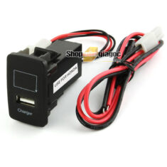 Cổng Sạc USB + Vôn Kế Điện Cho Xe Honda 12V 2.1A