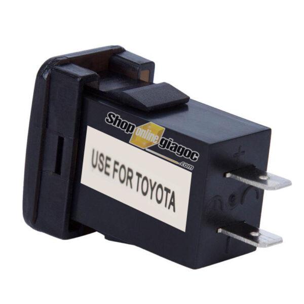 Cổng Sạc 2 USB + Vôn Kế Điện Cho Xe TOYOTA Nhỏ 12V 4.2A