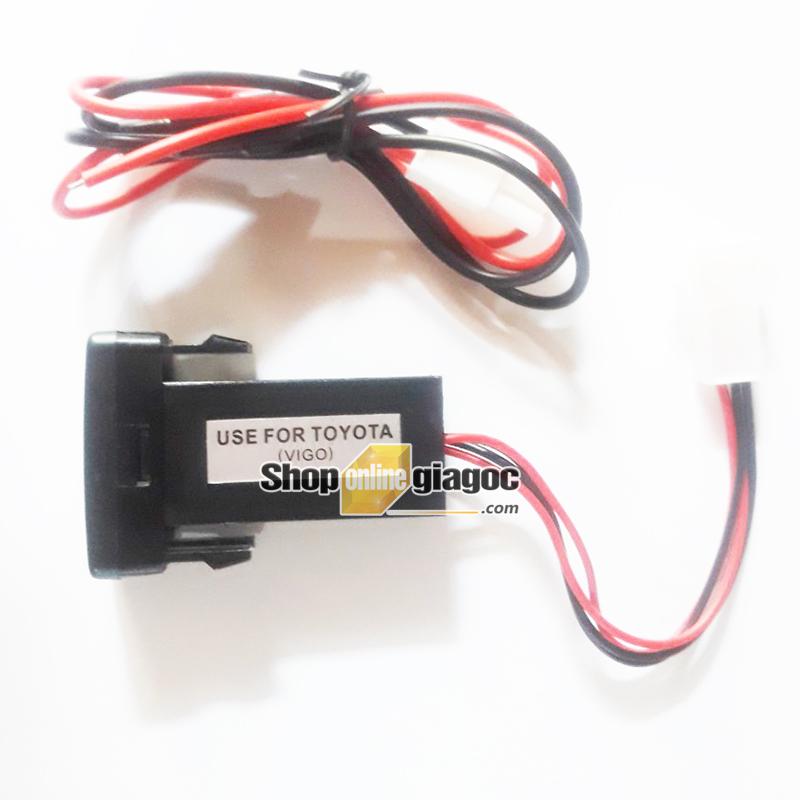 Cổng Sạc USB + Vôn Kế Điện Cho Xe Toyota Lớn 12V 2.1A