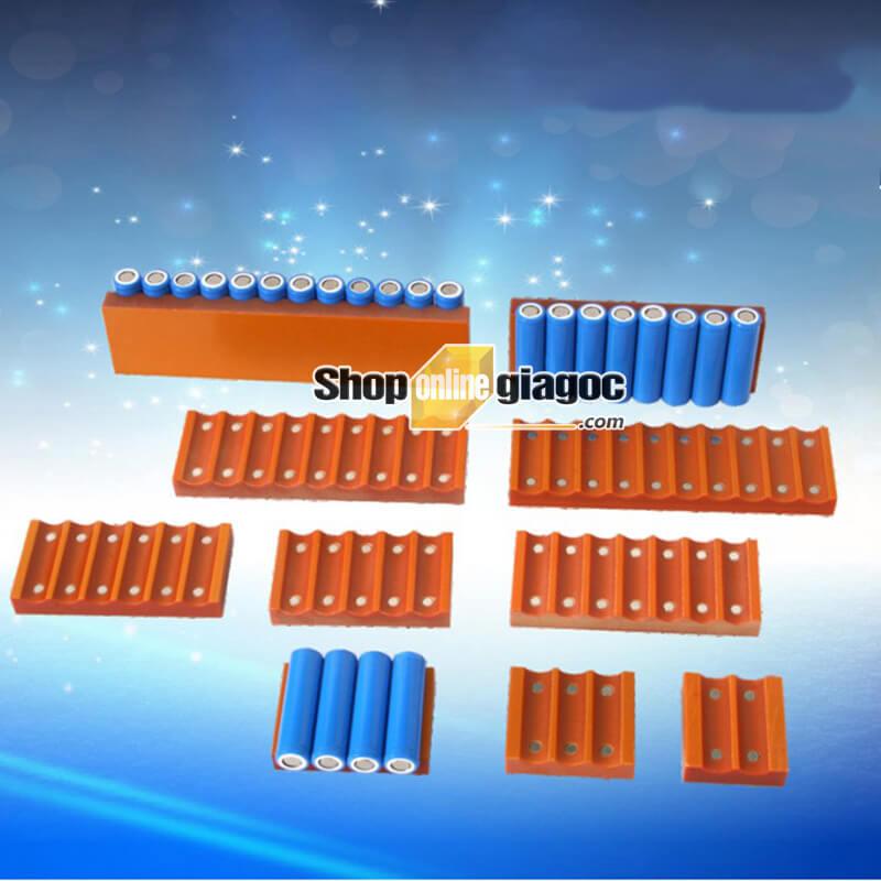 Đế Cố Định Cell Pin 18650 Có Nam Châm 4 Hàng - shoponlinegiagoc