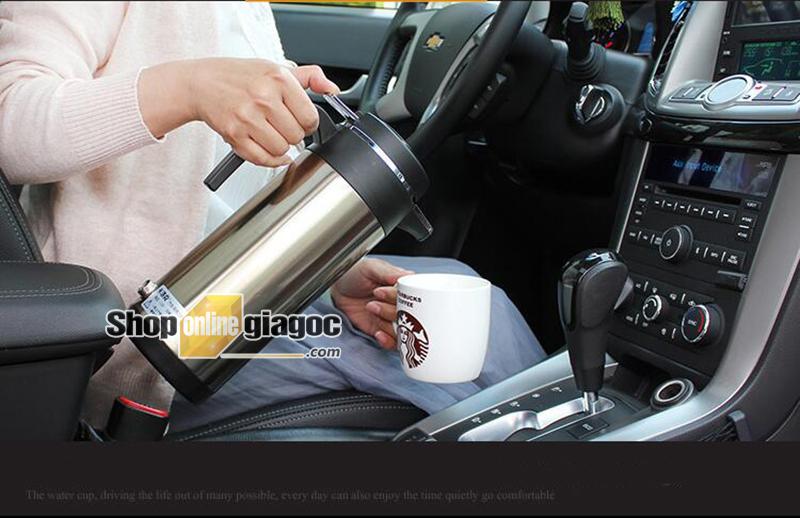 Bình Đun Nước Sôi 12V Cho Xe Ô Tô Inox 304 SPW-02 - Shôpnlinegiagoc