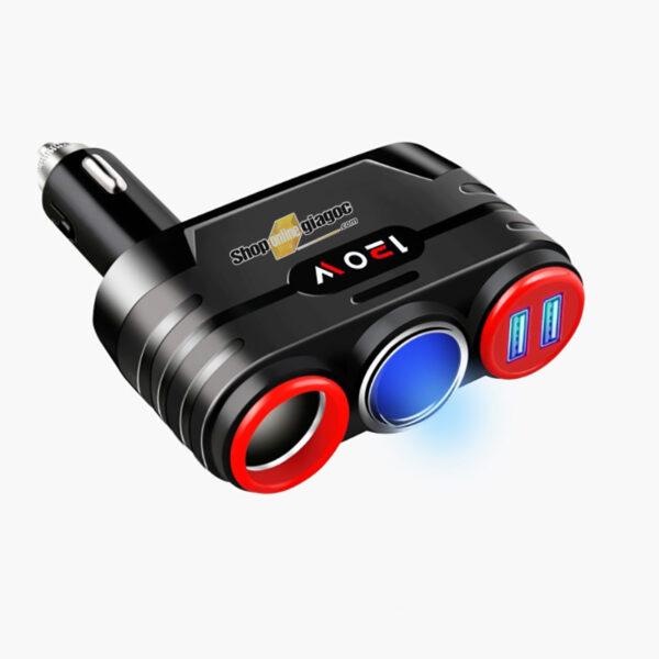 Bộ Chia 2 Tẩu Có Cổng Sạc 2 Chân USB SPW-08 - shoponlinegiagoc