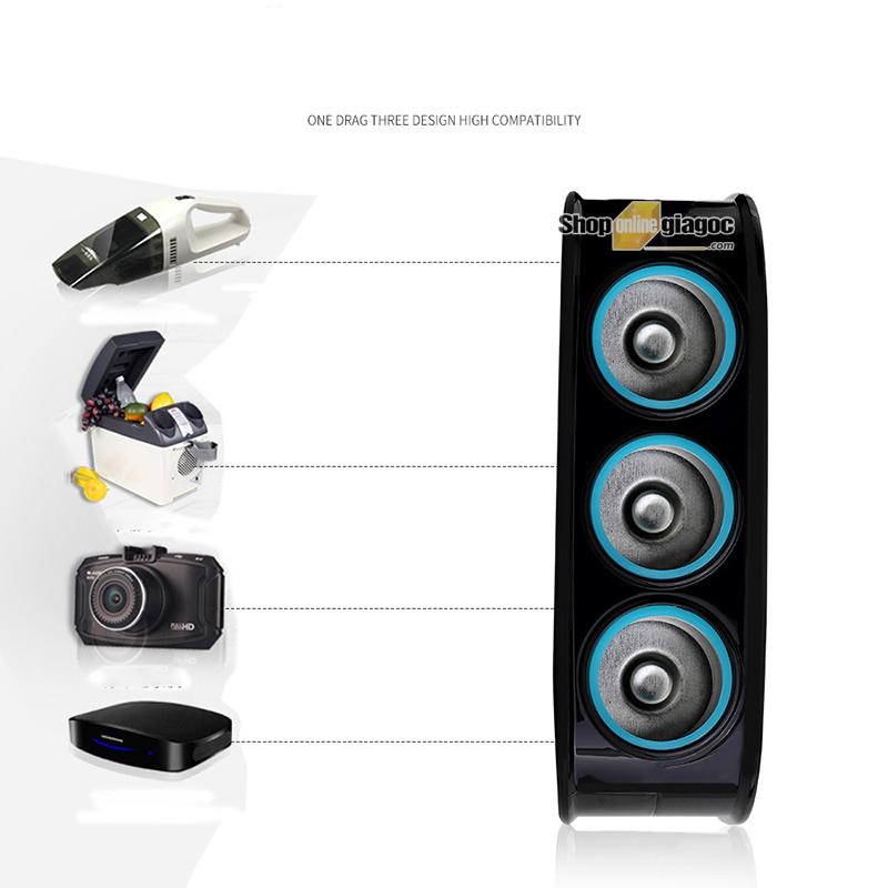 Bộ Chia 3 Tẩu Có Cổng Sạc 2 Chân USB SPW-05 - SHOPONLINEGIAGOC