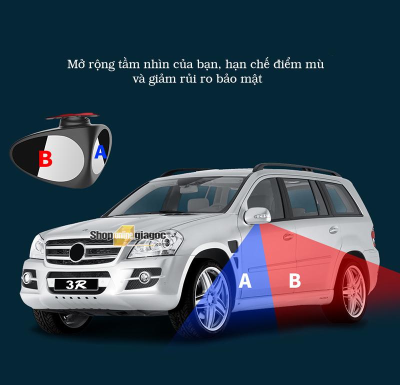Gương Cầu Chiếu Cạnh Và Lốp Xe Ô Tô Xoay 360 - shoponlinegiagoc