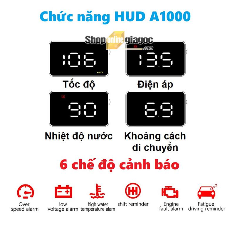 Hiển Thị Tốc Độ Trên Kính lái HUD A1000 - shoponlinegiagoc
