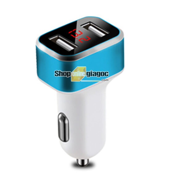 Tẩu Sạc Xe Hơi Chia 2 Cổng USB HD - Vôn Kế SPW-01 - shoponlinegiagoc
