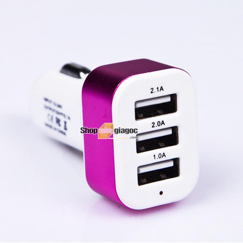 Tẩu Sạc Xe Hơi Chia 3 Cổng USB SPW-02 - shoponlinegiagoc