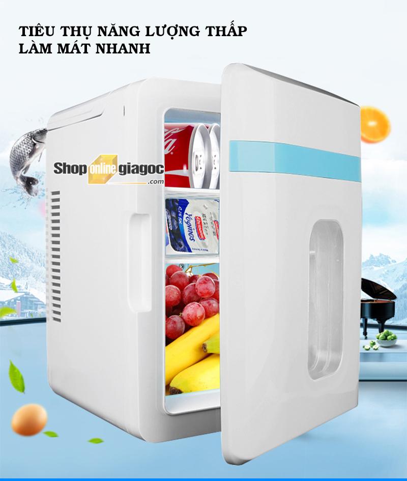 Tủ Lạnh Mini Di Động Dùng Cho Ô Tô Hoặc Gia Đình 10 Lít