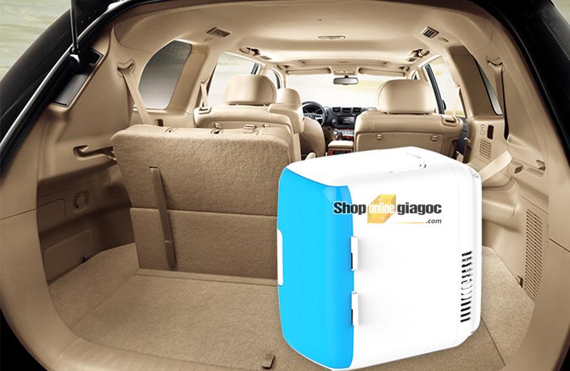 Tủ Lạnh Mini Di Động dành Cho Ô Tô 12V-220V 8 Lít