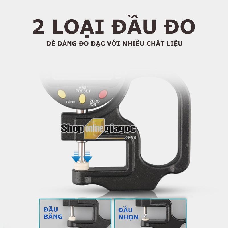 Đồng Hồ Đo Độ Dày Điện tử màn hình kỹ thuật số SHAHE SPW2