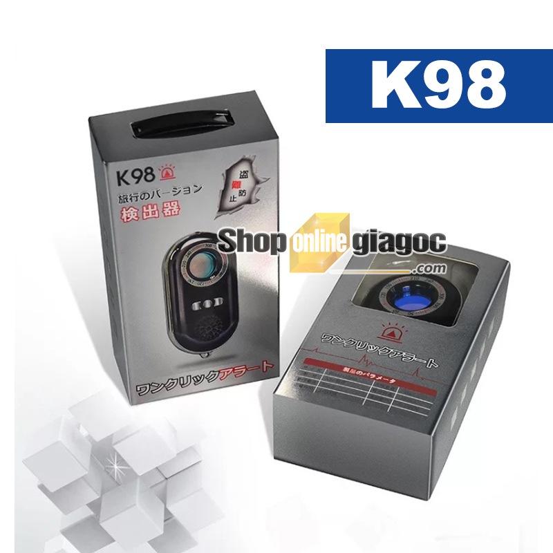 Máy Phát Hiện Camera Quay Trộm Và Máy Ghi Âm Nghe Lén có đèn hồng ngoại K98