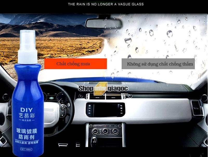 Bình xịt Nano chống nước trên gương kính ô tô - Shoponlinegiagoc