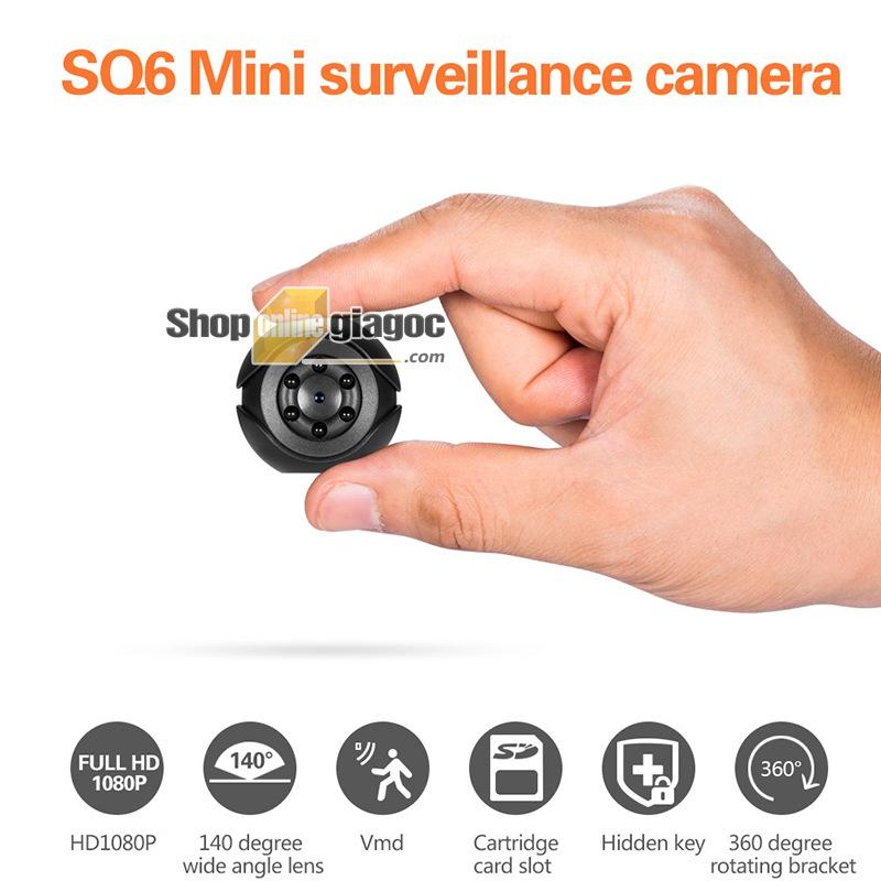 Camera Mini SQ6 Hồng Ngoại Quan Sát Ban Đêm - shoponlinegiagoc