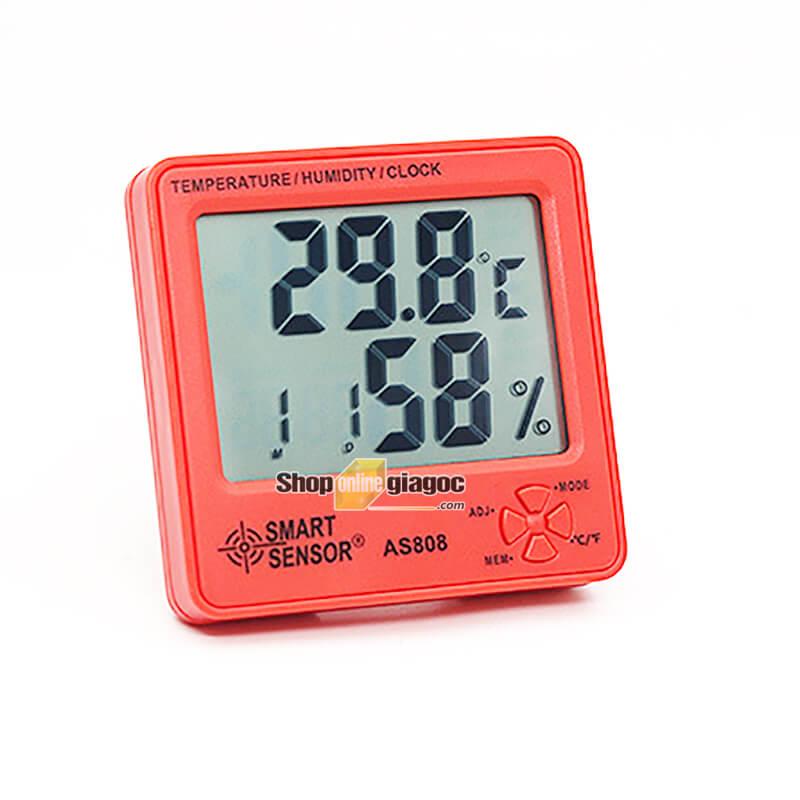 Đồng Hồ Đo Nhiệt Độ Độ Ẩm Smart Sensor AS808 - shoponlinegiagoc